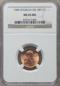 Lincoln Cents: , 1984 1C Doubled Die Obverse MS65 Red NGC. NGC Census: (70/298).PCGS Population (375/612). Mintage: 8,151,078,912. Numismed...