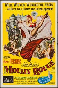 "Moulin Rouge (United Artists, 1952). One Sheet (27"" X 41"") Flat Folded. Drama"