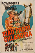 """Movie Posters:Western, Man from Oklahoma (Republic, 1945). One Sheet (27"""" X 41"""").Western.. ..."""