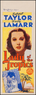 "Lady of the Tropics (MGM, 1939). Australian Daybill (15"" X 39.5""). Romance"