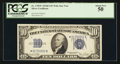 Small Size:Silver Certificates, Fr. 1705* $10 1934D Wide Silver Certificate. PCGS About New 50.. ...