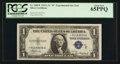 """Small Size:Silver Certificates, Fr. 1609* $1 1935A """"R"""" Silver Certificate. PCGS Gem New 65PPQ.. ..."""
