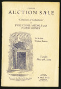 Miscellaneous:Other, B. Max Mehl LXXXVII Auction Catalogue May 9, 1933 60 Pages.. ...