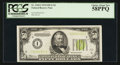 Small Size:Federal Reserve Notes, Fr. 2102-I $50 1934 Light Green Seal Federal Reserve Note. PCGS Choice About New 58PPQ.. ...