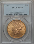 Liberty Double Eagles, 1901 $20 MS64 PCGS....