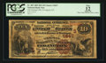 National Bank Notes:Kentucky, Covington, KY - $10 1882 Brown Back Fr. 485 The German NB Ch. #(S)1847. ...