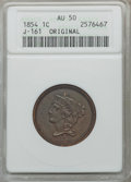 Patterns, 1854 P1C One Cent, Judd-161 Original, Pollock-187, R.4, AU50 ANACS. NGC Census: (0/59). PCGS Population (3/114). . From ...