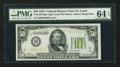 Small Size:Federal Reserve Notes, Fr. 2102-H $50 1934 Light Green Seal Federal Reserve Note. PMG Choice Uncirculated 64 EPQ.. ...