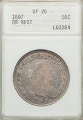 Early Half Dollars: , 1807 50C Draped Bust VF20 ANACS. NGC Census: (54/701). PCGSPopulation (121/857). Mintage: 301,076. Numismedia Wsl. Price f...