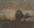 Works on Paper, JOSEPH FRANK CURRIER (American, 1843-1909). Evening Landscape. Pastel on paper. 6-3/4 x 8-1/2 inches (17.1 x 21.6 cm) (s...