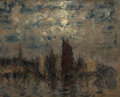 Fine Art - Painting, American:Modern  (1900 1949)  , HENRY GOLDEN DEARTH (American, 1864-1918). Nocturne, circa1910. Oil on board. 13 x 16-1/4 inches (33.0 x 41.3 cm). Sign...