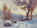 Fine Art - Painting, American:Modern  (1900 1949)  , ARTHUR VIDAL DIEHL (American, 1870-1929). Winter Landscape.Oil on board. 11-1/2 x 15-1/2 inches (29.2 x 39.4 cm). Signe...