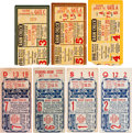 Baseball Collectibles:Tickets, 1946 Boston Red Sox vs. St. Louis Cardinals World Series CompleteRun of 7 Tickets....