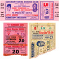 Boxing Collectibles:Memorabilia, 1938-55 Rocky Marciano, Joe Louis, etc. Boxing Ticket Stubs Lot of 3. ...