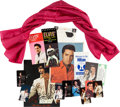 Music Memorabilia:Memorabilia, Elvis Presley Owned/Gifted Maroon Scarf and Memorabilia(1960s-70s).... (Total: 15 Items)