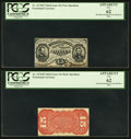 Fractional Currency:Third Issue, Fr. 1274SP 15¢ Third Issue PCGS Narrow Margin Pair Apparent New 62.. ... (Total: 2 notes)