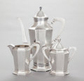 Silver & Vertu:Hollowware, A THREE PIECE CLEMENS FRIEDELL COFFEE SERVICE. Clemens Friedell, Pasadena, California, circa 1915. Marks: CLEMENS FRIEDELL... (Total: 3 )