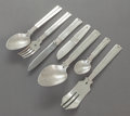 Silver Flatware, Mexican:Flatware, A FORTY-TWO PIECE WILLIAM SPRATLING AMARRES PATTERN MEXICANHAMMERED SILVER FLATWARE SERVICE FOR EIGHT. William ... (Total: 42Items)