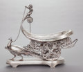 Silver & Vertu:Hollowware, AN AMERICAN SILVER-PLATED FIGURAL CENTER BOWL. Maker unknown, circa 1880. Marks: Unmarked. 15-5/8 x 15-1/2 x 7-1/2 inches (3...