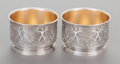 Silver Holloware, American:Open Salts, A PAIR OF STARR & MARCUS SILVER OPEN SALTS IN ORIGINAL CASE.Maker unknown, circa 1865-1877. Marks: STARR & MARCUS, NEWYO... (Total: 2 Items)