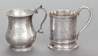 A PAIR OF R. & W. WILSON COIN SILVER CHILD'S CUPS Robert & William Wilson, Philadelphia, Pennsylvania, c...