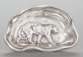 Silver Holloware, American, A GORHAM SILVER FIGURAL DISH. Gorham Manufacturing Co., Providence,Rhode Island, 1883. Marks: (lion-anchor-G), STERLING, ...