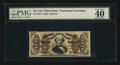 Fractional Currency:Third Issue, Fr. 1336 50¢ Third Issue Spinner PMG Extremely Fine 40.. ...