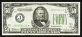 Small Size:Federal Reserve Notes, Fr. 2102-J* $50 1934 Federal Reserve Note. Very Fine+.. ...