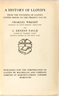 Books:Business & Economics, Charles Wright and C. Ernest Fayle. A History of Lloyd's fromthe Founding of Lloyd's Coffee House to the Present Day....