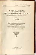 Books:Americana & American History, A Biographical Congressional Directory with an Outline Historyof the National Congress. 1774-1911. Washington: Governme...