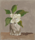 Fine Art - Painting, American:Contemporary   (1950 to present)  , ROBERT KULICKE (American, 1924-2007). White Flower in aGlass, 1985. Oil on paper. 7-1/4 x 6-1/2 inches (18.4 x 16.5cm)...