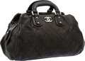 Luxury Accessories:Bags, Chanel Gray Quilted Caviar Leather Doctor Bag with Brushed SilverHardware. ...