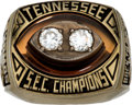 Football Collectibles:Others, 1990 Dave Thomas Tennessee Volunteers SEC Championship Ring....