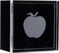 Music Memorabilia:Memorabilia, Beatles Apple Lucite Paperweight/ Trinket Box (1968)....