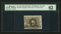 Fr. 1290 25¢ Second Issue Fiber Paper PMG Uncirculated 62
