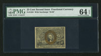 Fr. 1284 25¢ Second Issue PMG Choice Uncirculated 64 EPQ