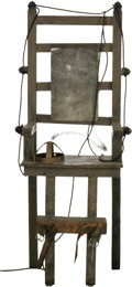 "Movie/TV Memorabilia:Props, ""Addams Family"" Electric Chair...."