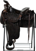 Movie/TV Memorabilia:Props, A Gene Autry Saddle, Circa 1930s....
