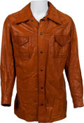 Music Memorabilia:Costumes, Elvis Presley Owned Leather Jacket (1960s)....