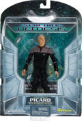 "Movie/TV Memorabilia:Memorabilia, A Patrick Stewart Signed Action Figure of ""Captain Jean-LucPicard,"" 2002...."