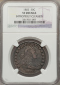 Early Half Dollars: , 1803 50C Large 3 -- Improperly Cleaned -- NGC Details. VF. NGCCensus: (19/276). PCGS Population (37/320). Mintage: 188,234...