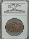 Expositions and Fairs, 1933 Century of Progress Exposition, Travel & Trans. BuildingMS64 NGC. M & D-43. Chicago, Illinois....