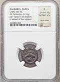 Ancients:Greek, Ancients: CALABRIA. Tarentum. Ca. 480-470 BC. AR nomos or didrachm(6.14 gm)....