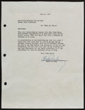 Music Memorabilia:Autographs and Signed Items, Elvis Presley Signed Letter to MGM (July 24, 1964)....