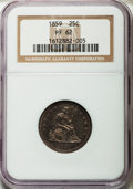 Proof Seated Quarters: , 1859 25C PR62 NGC. NGC Census: (11/128). PCGS Population (28/105). Mintage: 800. Numismedia Wsl. Price for problem free NGC...