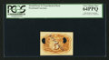 Fractional Currency:Second Issue, 5¢ Second Issue Plain Paper Experimental Back PCGS Very Choice New 64PPQ.. ...