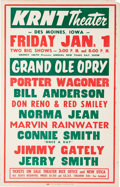 Music Memorabilia:Posters, Grand Ole Opry Roadshow Poster, Group of 3 (1967-69).... (Total: 3Items)