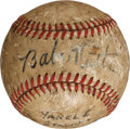 Autographs:Baseballs, 1943 Babe Ruth Single Signed Baseball....