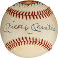 Autographs:Baseballs, 1990's Mickey Mantle Signed Hand-Painted Baseball....