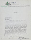 Football Collectibles:Others, 1971 Benny Friedman Signed Letter - With Vince Lombardi Content! ...